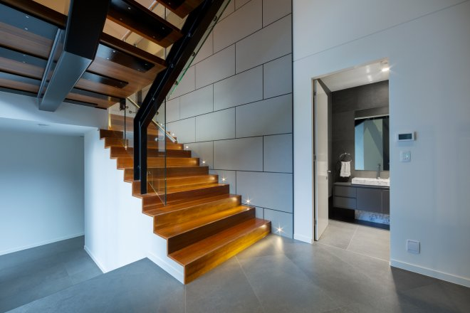 Stair case solid timber